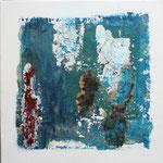 248 Ohne Titel I, Acryl, Sand und Leinöl auf Leinwand, Marie-Luise Neugebauer, 40 x 40 cm