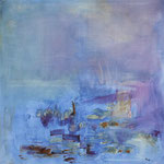 361 Am See,  Öl auf Leinwand, Ingrid Stolzenberg, 80 x 80 cm