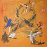 171 Ohne Titel, Acryl auf Leinwand, Ingrid Stolzenberg, 80 x 80 cm