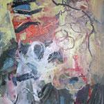 020 Keine Angst, Acryl/Öl auf Leinwand, Manfred Rüth, 80 x 60 cm