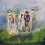 177 Landschaft, Mischtechnk auf Leinwand, Gitta Junge, 50 x 70 cm