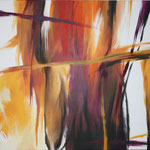 280 Indian Summer,  Acryl auf Leinwand,  Karin Lesser-Köck, 70 x 100 cm