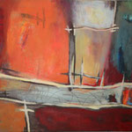030 Neue Wege, Öl und Acryl auf Leinwand, Herta Reitz, 80 x 100 cm