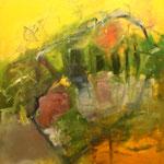162 Endlich warm, Öl und Acryl auf Leinwand, Manfred  Rüth, 100 x 80 cm