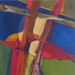 003 IV Abstraktionen, Acryl auf Leinwand, Brigitte Reich, 60 x 60 cm