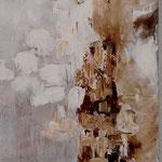 286 Ohne Titel, Acryl auf Leinwand, Marie-Luise Neugebauer, 120 x 40 cm