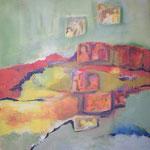 252 Im Gedächtnis, Acryl auf Leinwand, Brigitte Reich, 80 x 100 cm
