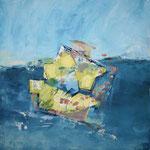 182 Auf hoher See, Mischtechnk auf Leinwand, Gitta Junge, 60 x 60 cm