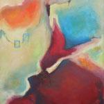 038 Unterwegs III, Öl und Acryl auf Leinwand, Herta Reitz, 100 x 80 cm