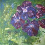 165 Viola, Acryl auf Leinwand, Ingrid Stolzenberg, 100 x 100 cm