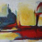 045, Freiheit I, Öl und Acryl auf Leinwand, Herta Reitz, 58 x 76 cm