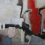 275 1818, Öl und Acryl auf Leinwand, Herta Reitz, 90 x 140 cm