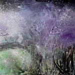012 Mistery Tree,  Acryl auf Leinwand, Elsa von Blanc, 70 x 100 cm