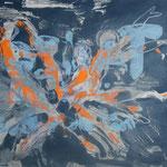 260 Vierergruppe, Acryl auf Leinwand, Wolf Pannitschka, 40 x 55 ccm