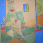 101 Le Printemps, Acryl auf Leinwand, Brigitte Reich, 120 x 120 cm