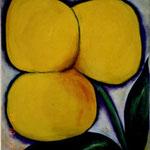 059 Gelbe Blume, Acryl auf Hartfaser, Herta Reitz,120 x 100 cm