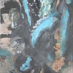 Seraphine, Acryl und Collage auf Leinwand, Wolf Pannitschka, 70 x 50 cm