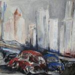 117 Frankfurt, Acryl auf Leinwand, Heide Göbel, 70 x 90 cm