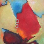 036 Unterwegs I, Öl und Acryl auf Leinwand, Herta Reitz, 100 x 80 cm