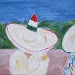 145 Siesta, Acryl und Pastell auf Leinwand, Gitta Junge, 40 x 120 cm