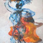 114 Jump off, Acryl auf Leinwand, Wolf Pannitschka, 80 x 60 cm
