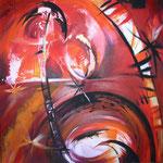 264 Miracle, Acryl auf Leinwand,  Karin Lesser-Köck, 80 x 80 cm