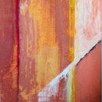 005 Der rote Punkt, Acryl auf Leinwand, Ilse Leineweber, 100 x 70 cm