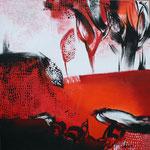 070 In the mood II, Acryl auf Leinwand, Karin Lesser-Köck, 50 x 50 cm