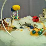 """Familie Terelle: """"Unsere Traumwelten- sie schweben auf den Wolken: die Kletterwelt, die Schildkrötenwelt, die Süßigkeitenwelt und die Schmetterlingswelt."""""""