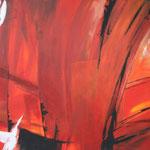 249 Lava 1, Acryl auf Leinwand,  Karin Lesser-Köck, 70 x 100 cm