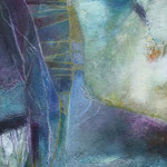 098 Blaue Stunde I, Acryl auf Leinwand, Karin Lesser-Köck, 50 x 50 cm