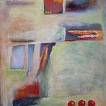 017 Auf dem Weg, Acryl auf Leinwand, Herta Reitz, 90 x 70 cm