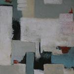 338 1814, Öl und Acryl auf Leinwand, Herta Reitz, 100 x 80 cm