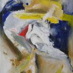 168 Bewegung, Acryl auf Leinwand, Heide Göbel, 90 x 70 cm