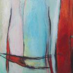 224 Wo ist das Meer?, Öl und Acryl auf Leinwand, Herta Reitz, 80 x 100 cm