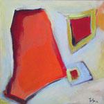 221 Segel im Wind I, Acryl auf Leinwand, Herta Reitz, 40 x 40 cm