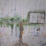 076 Ohne Titel, Acryl auf Leinwand, Marie-Luise Neugebauer, 60 x 60 cm