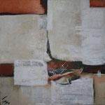 104 1809,  Öl und Acryl auf Leinwand, Herta Reitz, 110 x 110 cm
