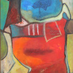 039 Farbenspiel I, Öl und Acryl auf Leinwand, Herta Reitz, 100 x 70 cm