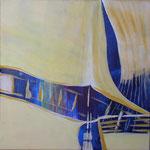 257 Das gelbe Segel, Acryl auf Leinwand, Brigitte Reich, 50 x 50 cm