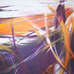 126 Wirbelwind, Acryl auf Leinwand,  Karin Lesser-Köck, 80 x 100 cm