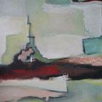 044 1812, Öl und Acryl auf Leinwand, Herta Reitz, 100 x 80 cm