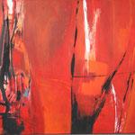 300 Lava 2, Acryl auf Leinwand,  Karin Lesser-Köck, 60 x 80 cm