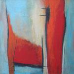 119 Es war einmal II,  Öl und Acryl auf Leinwand, Herta Reitz, 58 x 58 cm