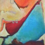 037 Unterwegs II, Öl und Acryl auf Leinwand, Herta Reitz, 100 x 80 cm