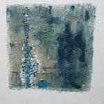 248 Ohne Titel II, Acryl, Sand und Leinöl auf Leinwand, Marie-Luise Neugebauer, 40 x 40 cm