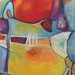 040 Farbenspiel II, Öl und Acryl auf Leinwand, Herta Reitz, 100 x 70 cm