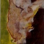 282 Ohne Titel, Acryl auf Leinwand, Marie-Luise Neugebauer, 120 x 40 cm