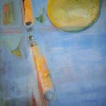 200 Kreuzung, Acryl auf Leinwand, Brigitte Reich, 80 x 100 cm