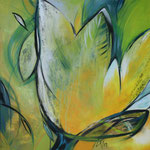 266 Springtime, Acryl auf Leinwand,  Karin Lesser-Köck, 50 x 50 cm